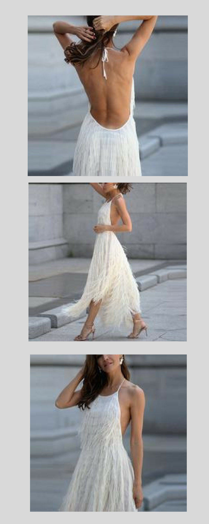 4f2a7292815 Sexy Backless Sleeveless Tassel Maxi Dress from Bellalike Available in 7  colors. Don t miss out