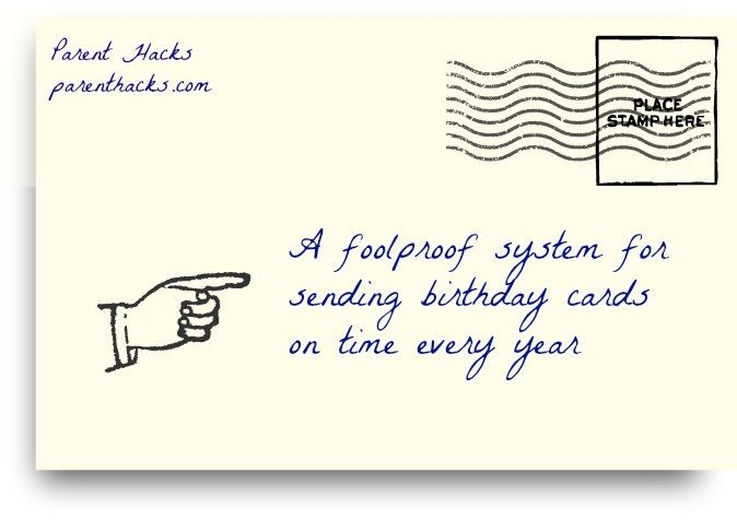 A Foolproof System For Sending Birthday Cards On Time Every Year Love This System Send Birthday Card Birthday Cards Cards