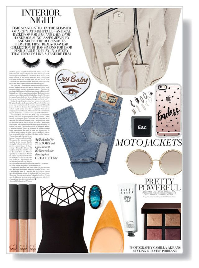 """Untitled #187"" by gina-cremont ❤ liked on Polyvore featuring Bobbi Brown Cosmetics, Tom Ford, NARS Cosmetics, Marc Jacobs, Casetify, Miss Selfridge, Andrea Fohrman, Cheap Monday and Topshop"