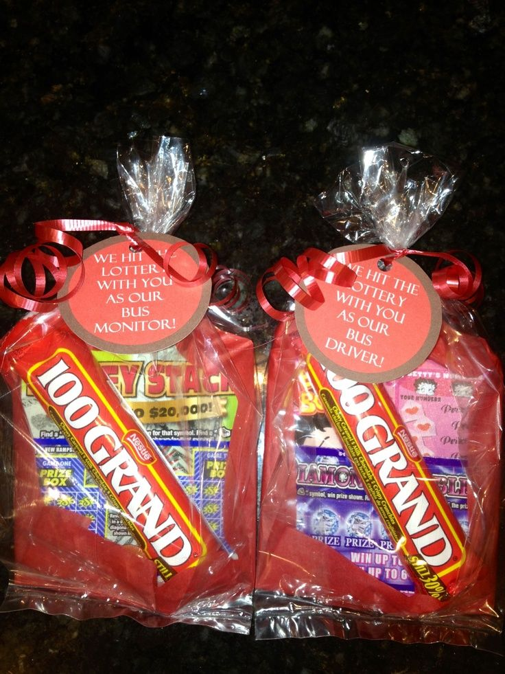 lottery ticket gift ideas for teachers