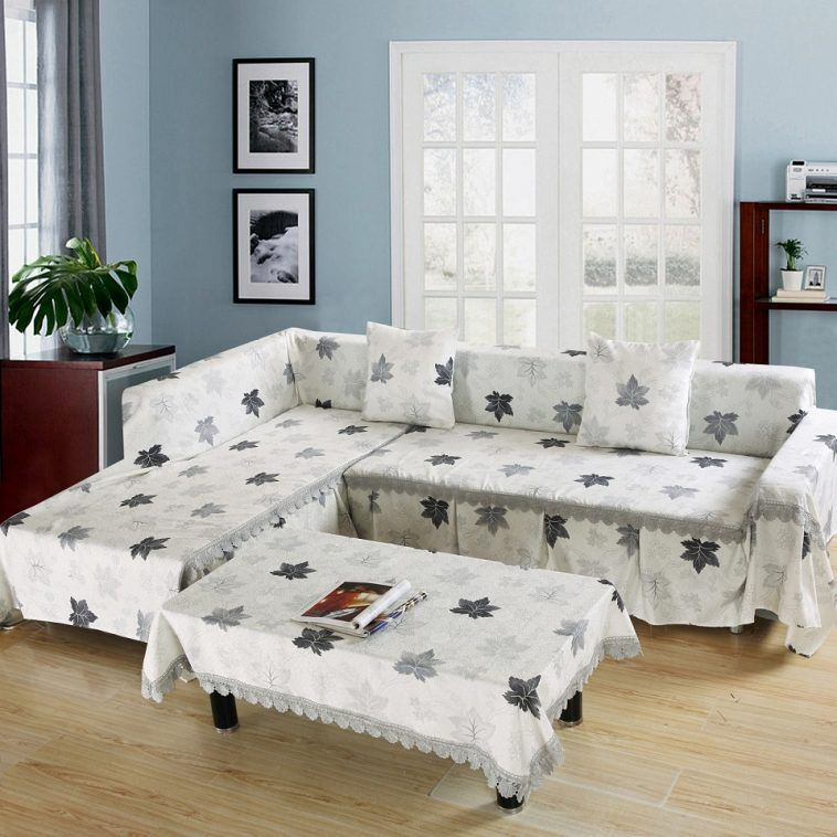 White And Grey Floral Slipcover For Sectional Sofa With Slipcovers For Sectional Sofa With Chaise Plus Loose Covers For Sofas And Chairs