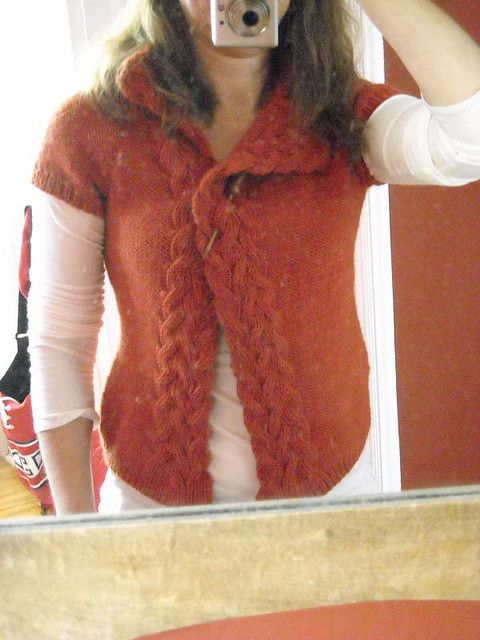 Rosamund's Cardigan by Andrea Pomerantz - $5.50  I would knit this with longer sleeves
