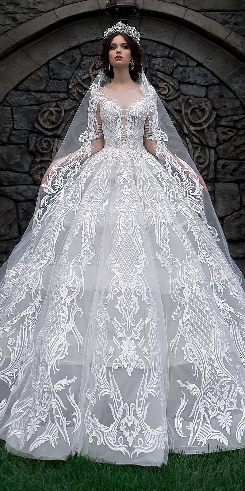 Luxury wedding dress bridal ball gown unique francesca gowns