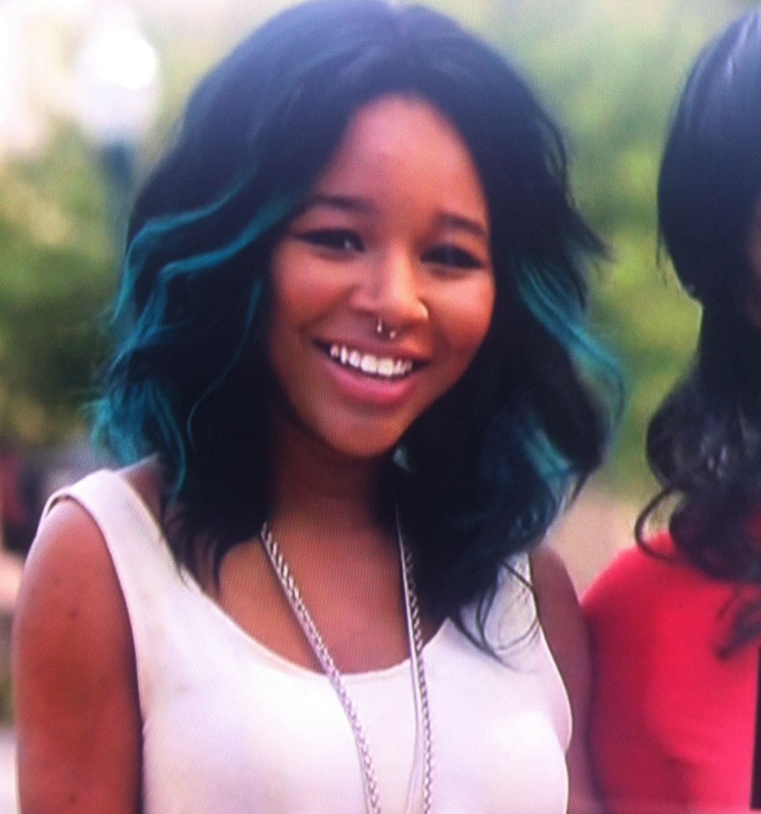 Black with teal highlights hair pinterest teal highlights