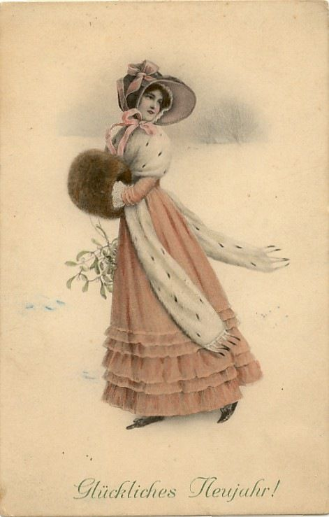 Image result for pictures of victorian women under mistletoe
