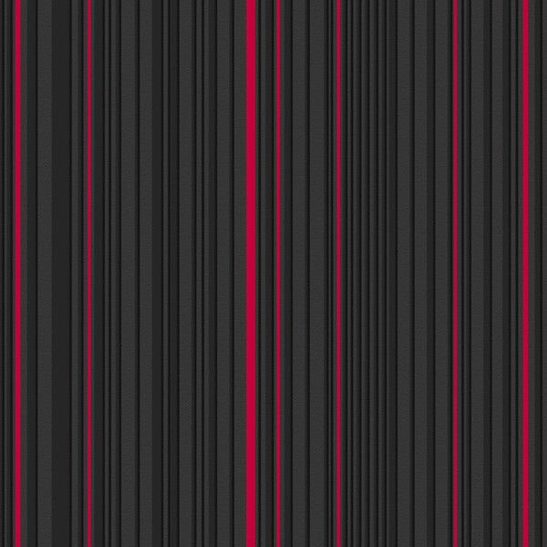 Maestro Stripe Wallpaper In Black And Red By Marcel Wanders For Graham Brown Striped Wallpaper Red Wallpaper Red And Black Wallpaper