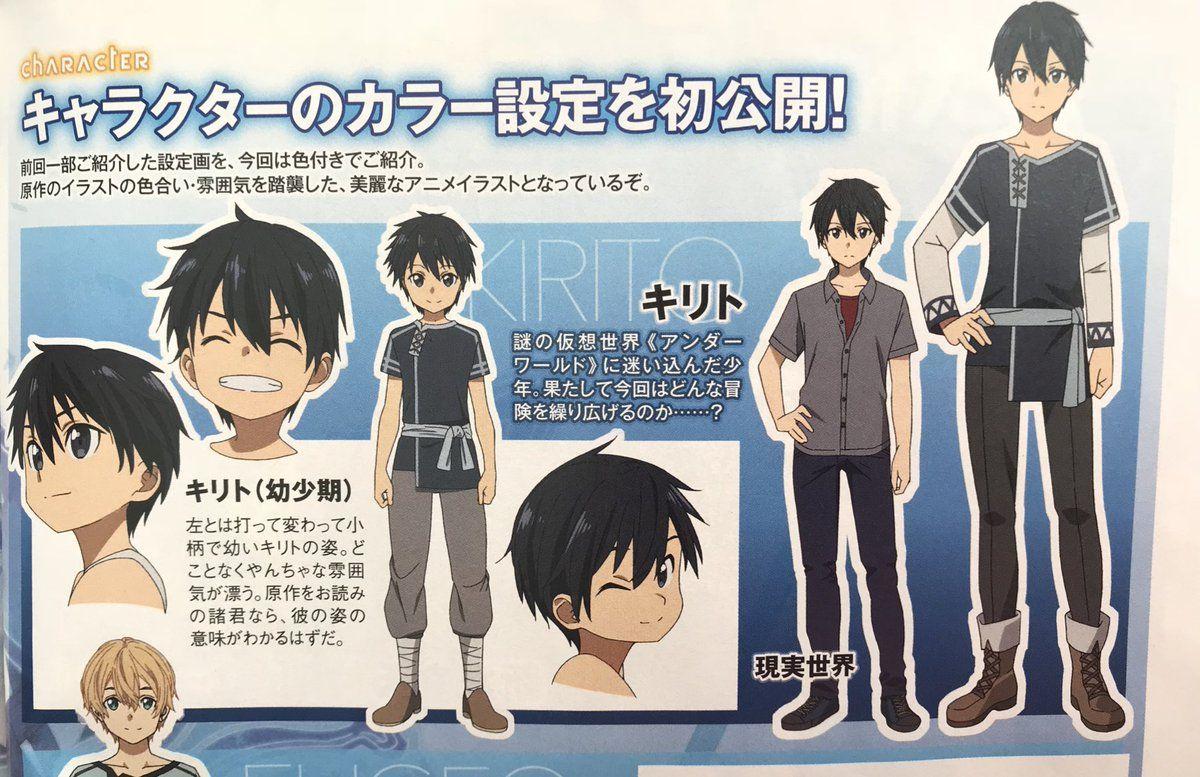 Mostrado Diseños De Personajes De Sword Art Online Alicization Diseño De Personajes Personajes De Sao Sword Art Online