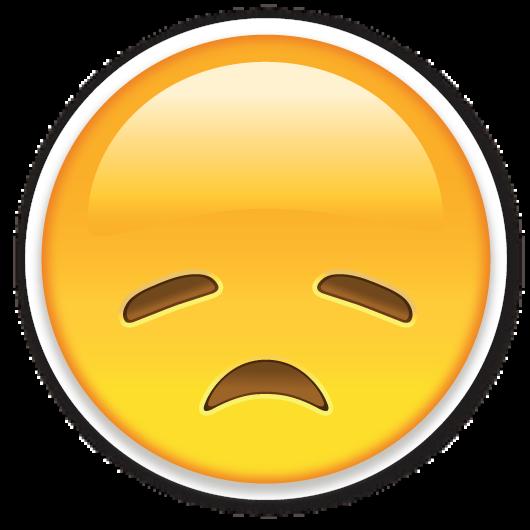 Disappointed Face Emoji Stickers Emoticons Emojis Emoji