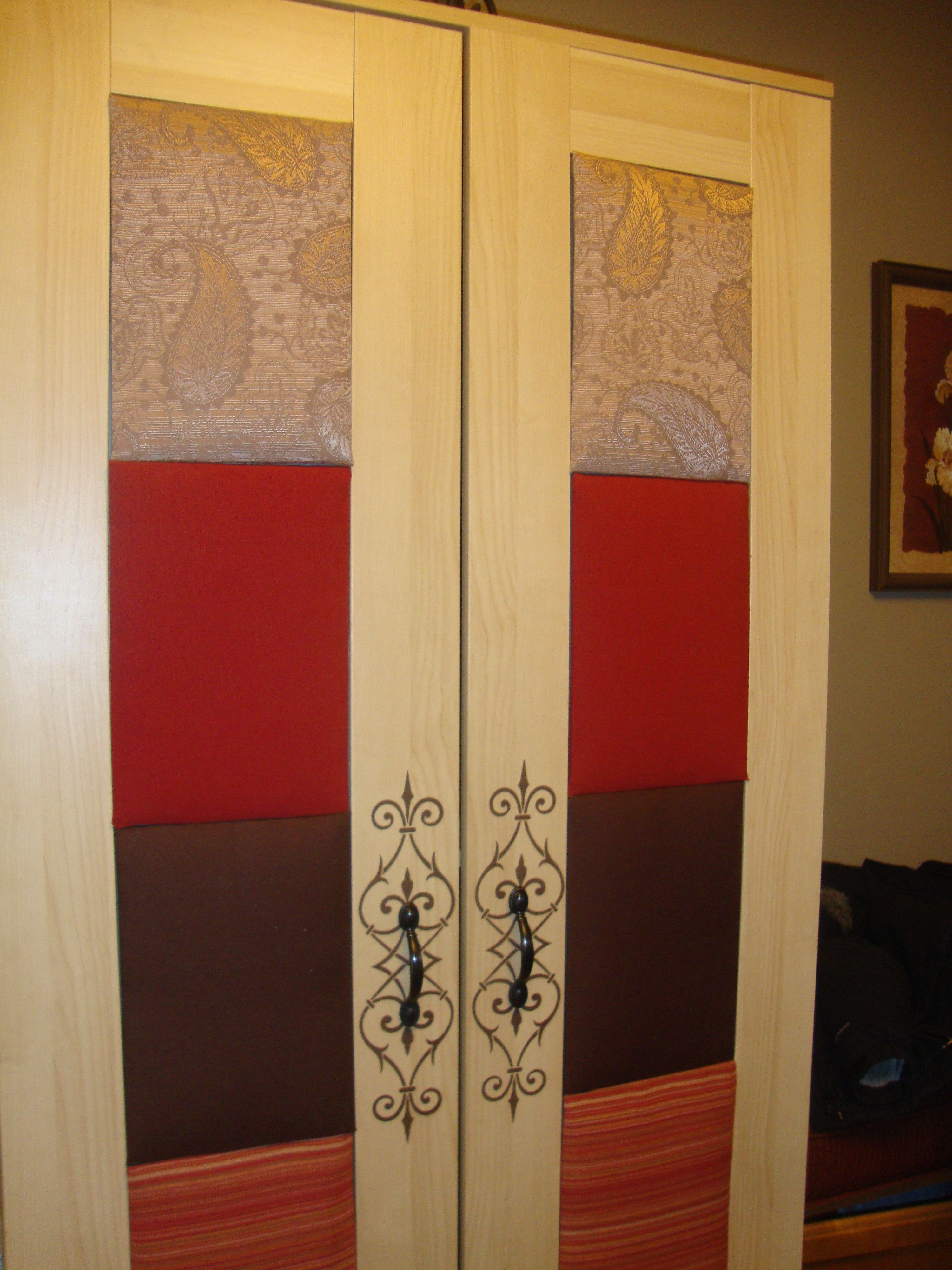 Ikea Aneboda Two Door Wardrobe With Fabric Covered