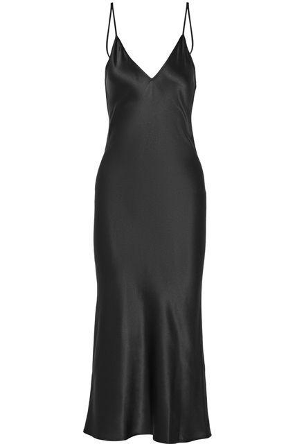 22++ Long black satin dress information