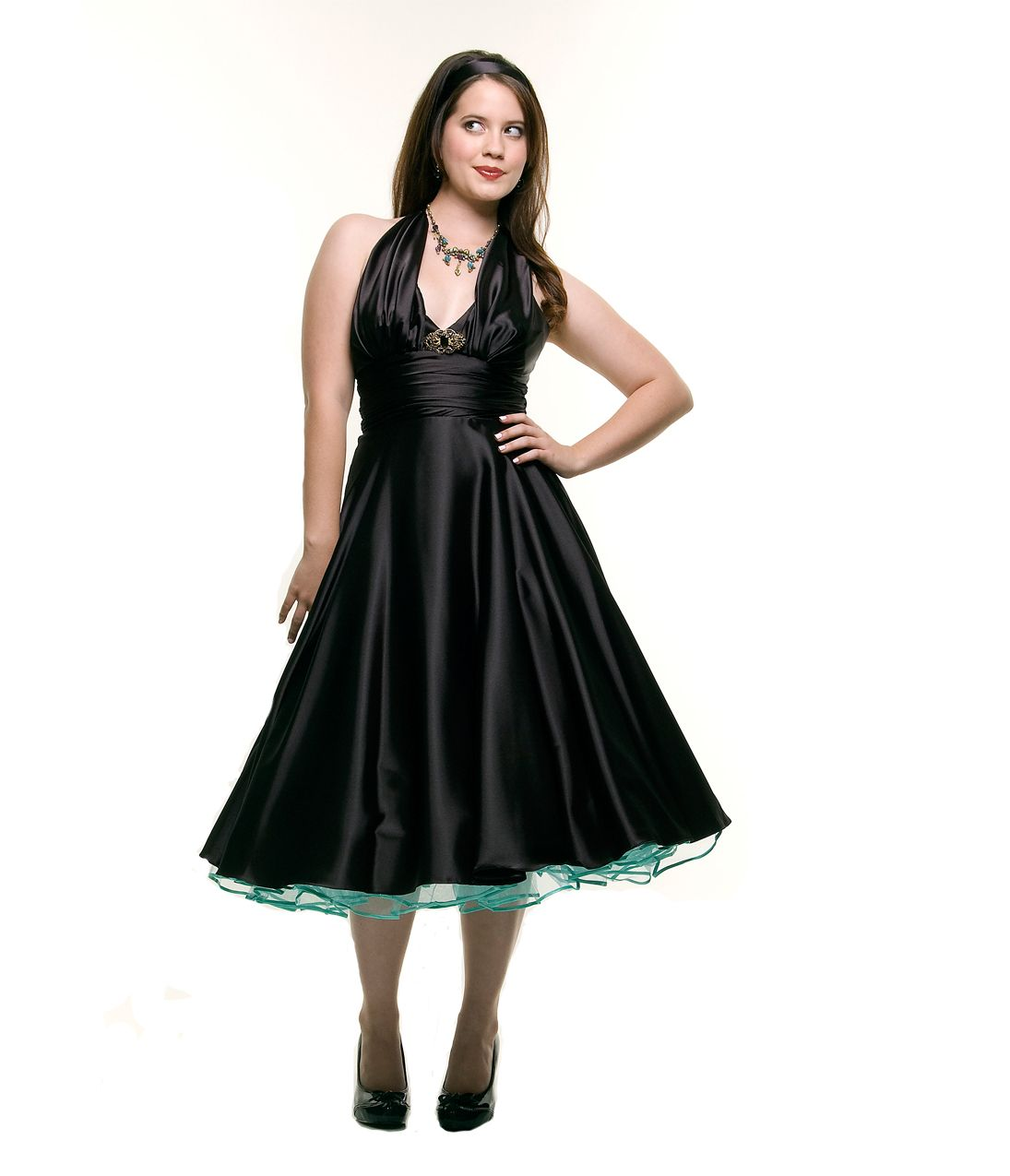 Us style homecoming dresses black marilyn satin halter prom