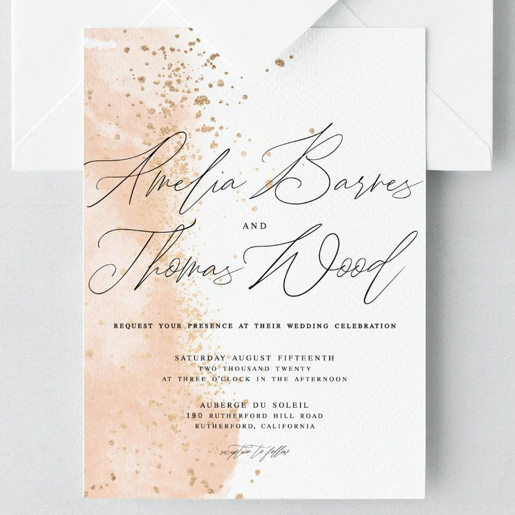 "Celebrity Wedding Invites: ""Amelia Barnes And Thomas Wood Request Your Presence At"