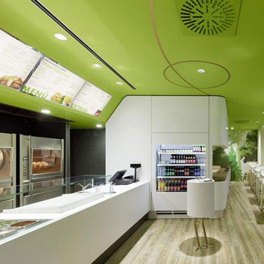green and clean restaurant interior - Iroonie.com | restaurant ...