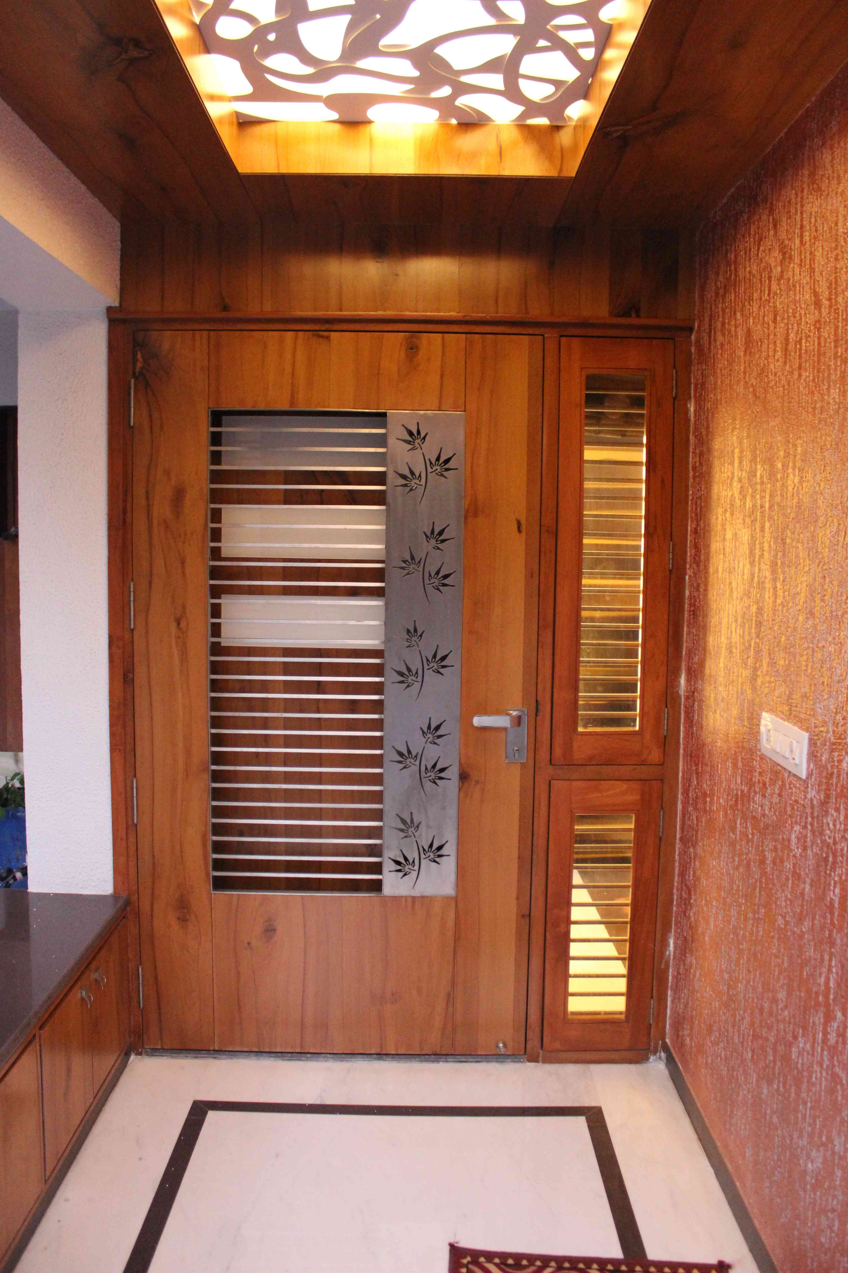 Residence interiors at ranip ahmedabad 1 jpg 3 456 5 184 for Front door design for flats