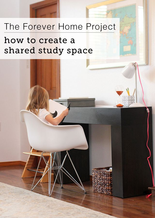 How To Set Up A Study Space For The Kids Without It Overtaking Living Room
