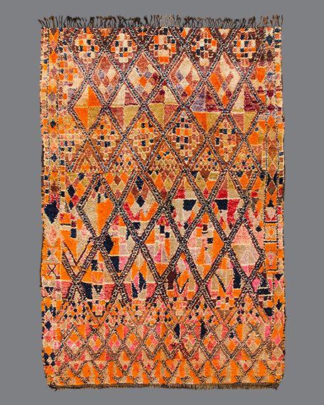 Vintage Moroccan Rug Beni M Guild Bg131 Berber Carpet