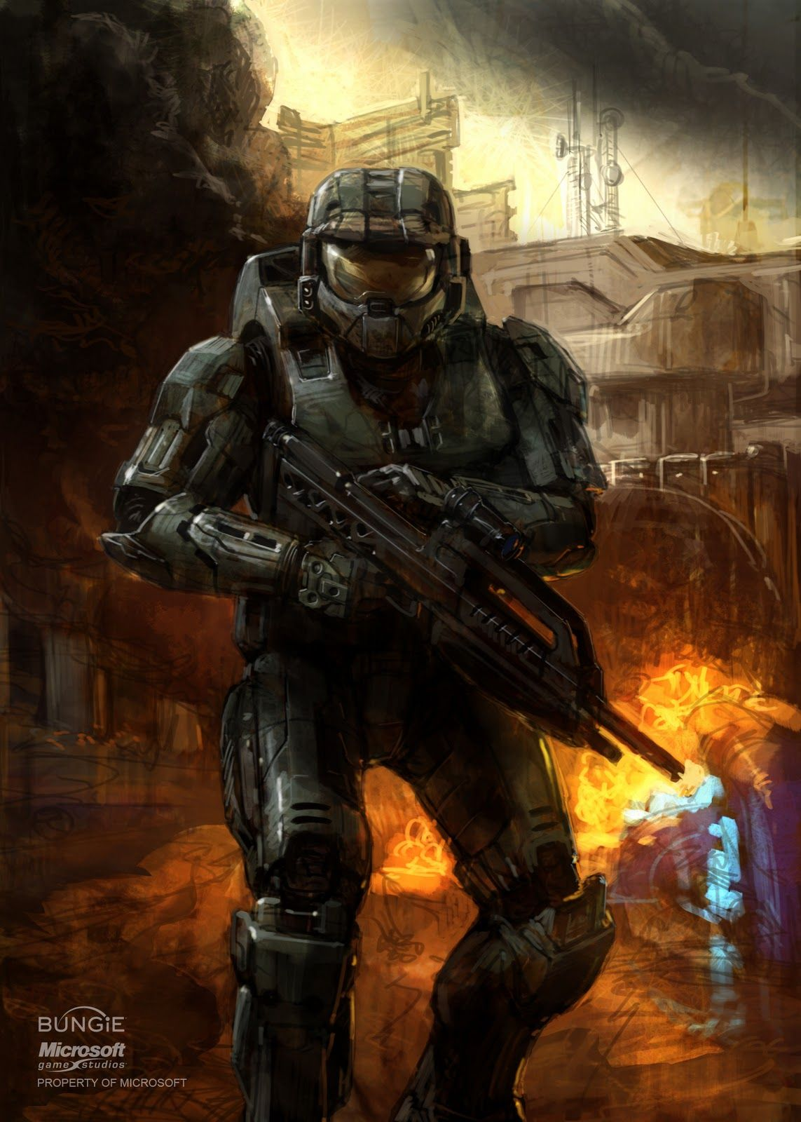 Master chief halo concept art isaac hannaford marine - Master chief in halo reach ...