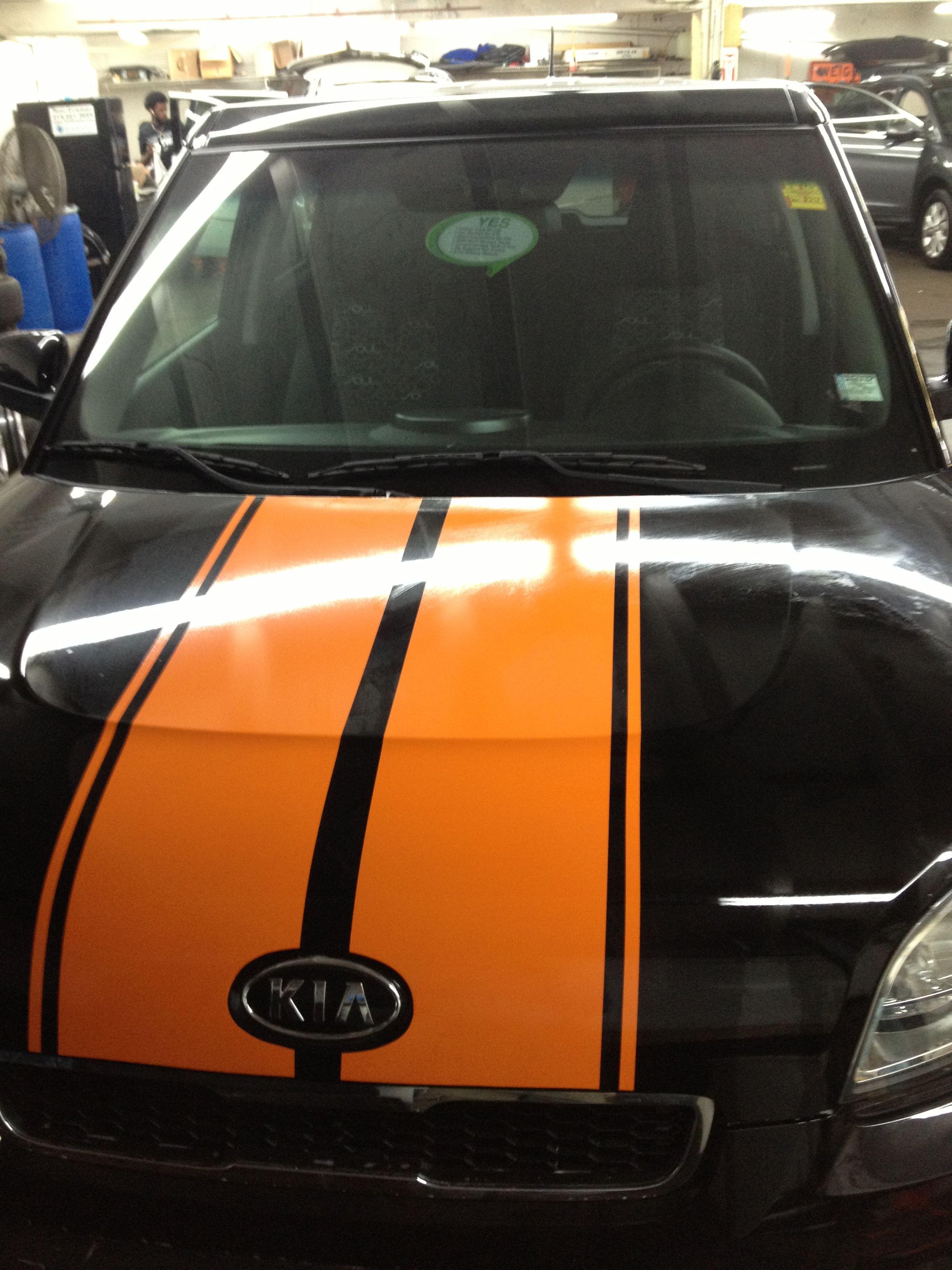 Kia Soul custom stripe Clear Auto Bra