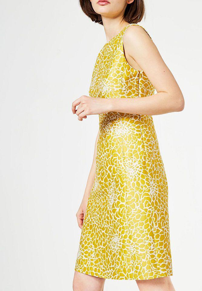 Jacquard kleid gelb