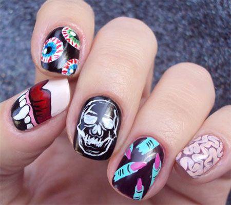Halloween Nail Art Halloween Nail Art Pinterest Nails