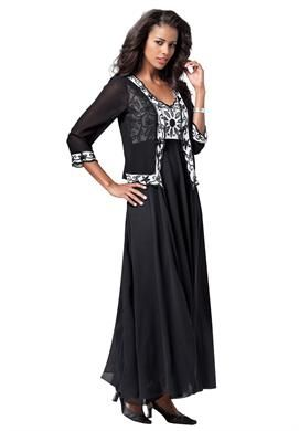 1.12.14-i like this one..Beaded Georgette Jacket Dress   Plus Size ...
