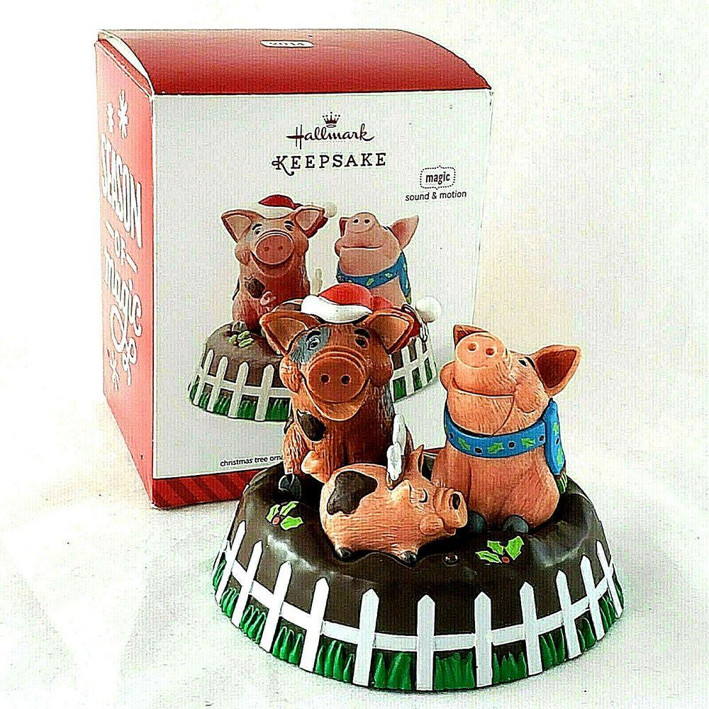 Hallmark Keepsake Ornament Yule Hogs Magic Sound & Motion