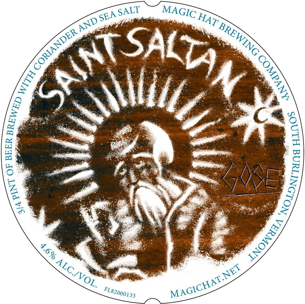 Magic Hat Brewing Co Saint Saltan Gose Vt Craftbeer Craft Beer Labels Magic Hat Craft Beer
