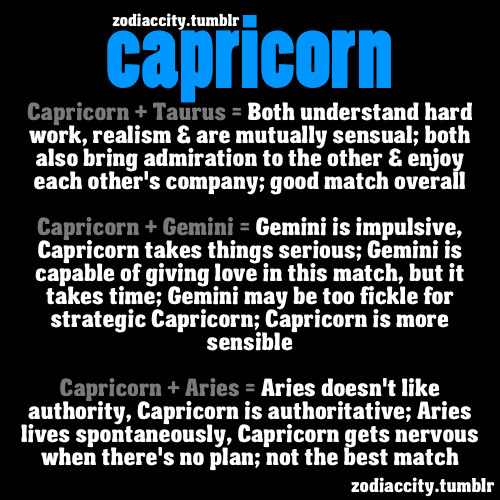 Zodiac and capricorn compatibility