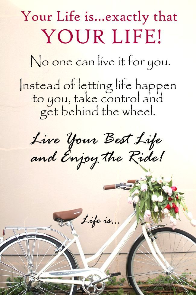 Your Life Is Exactly That Your Life Live Your Best Life And Enjoy The Ride Morning Greetings Quotes Wise Words Quotes Good Morning Quotes