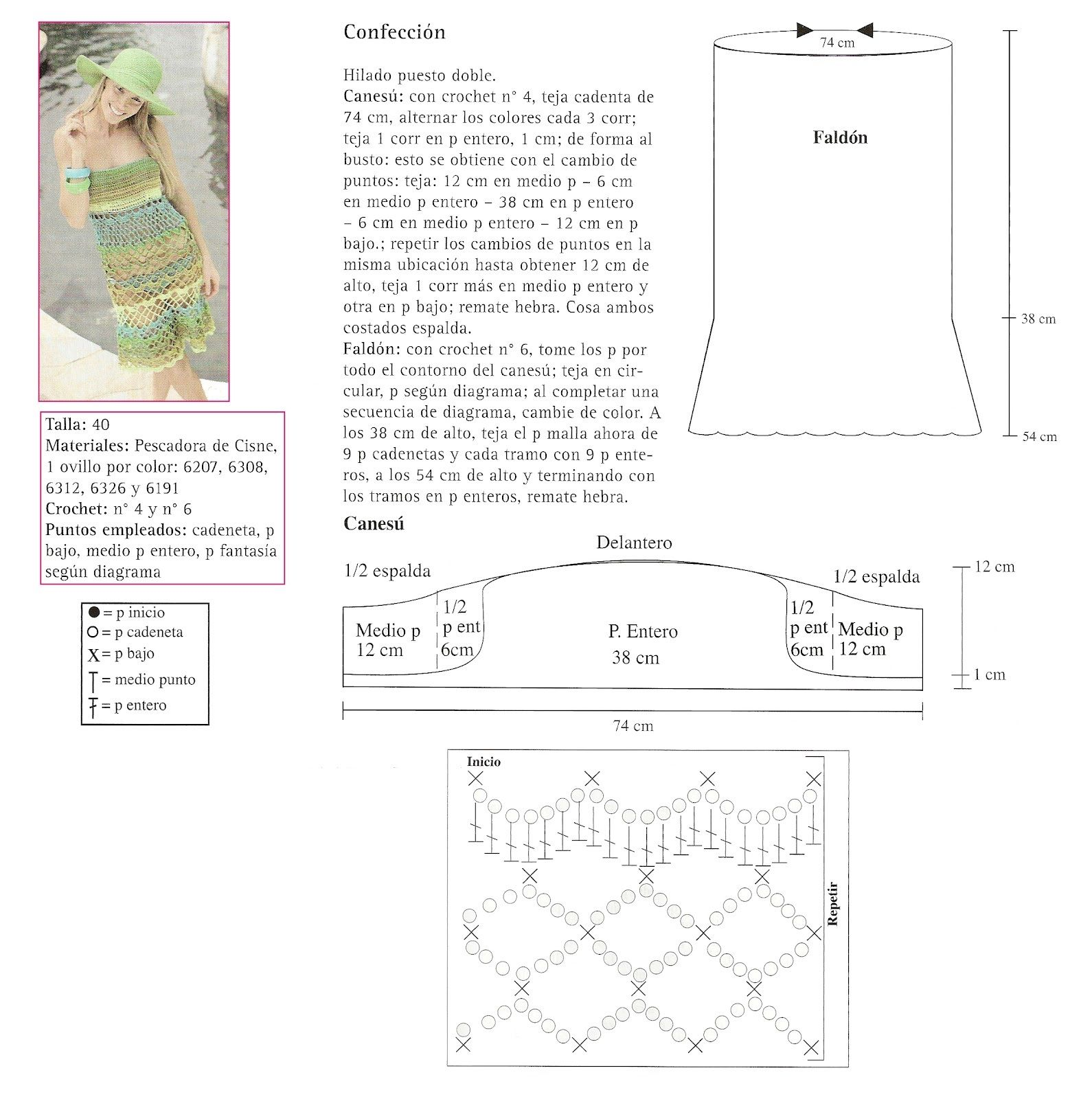 Patron Crochet Vestido Primavera | Ganchillo ropa | Pinterest ...