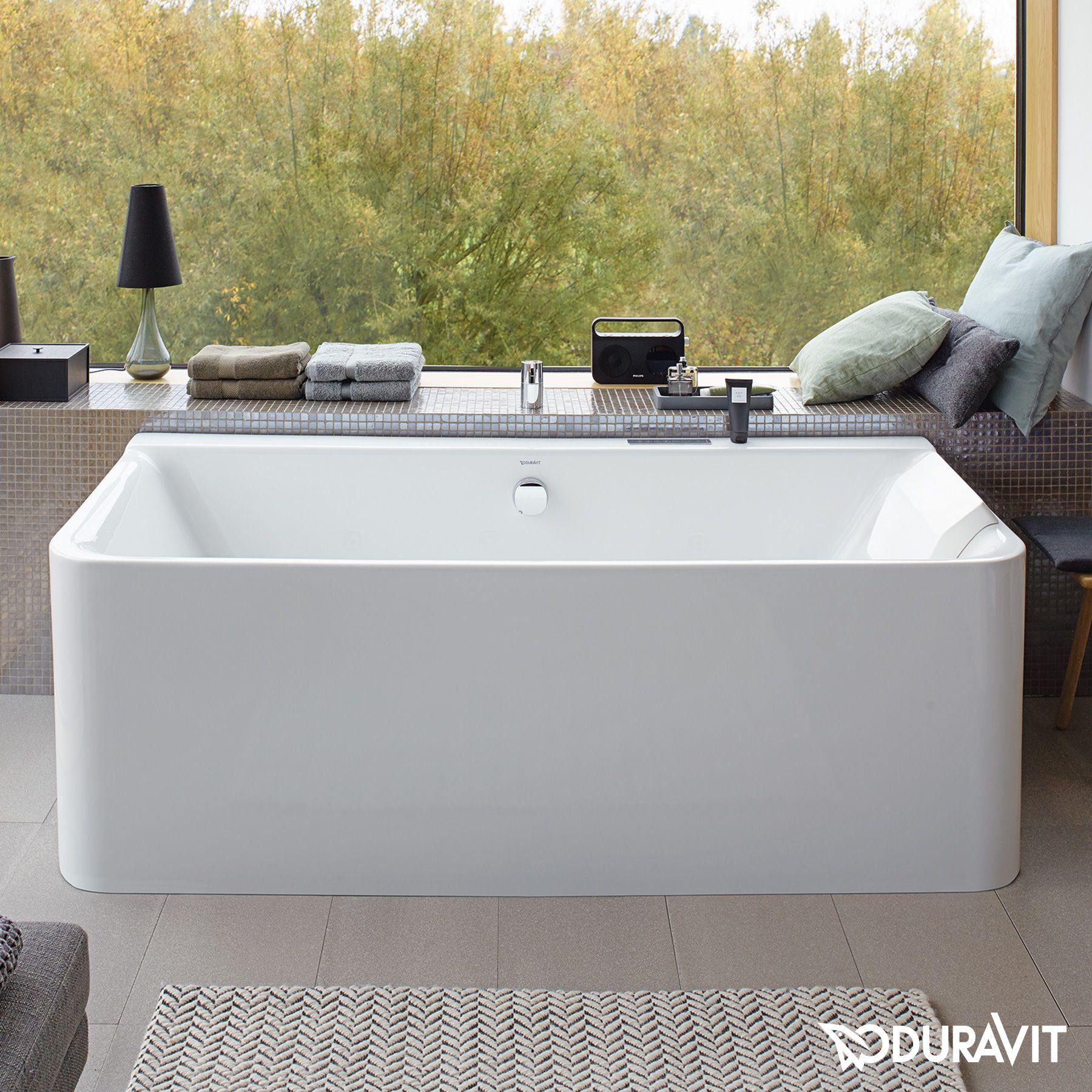 Duravit P3 Comforts Badewanne, Vorwandversion, mit ...