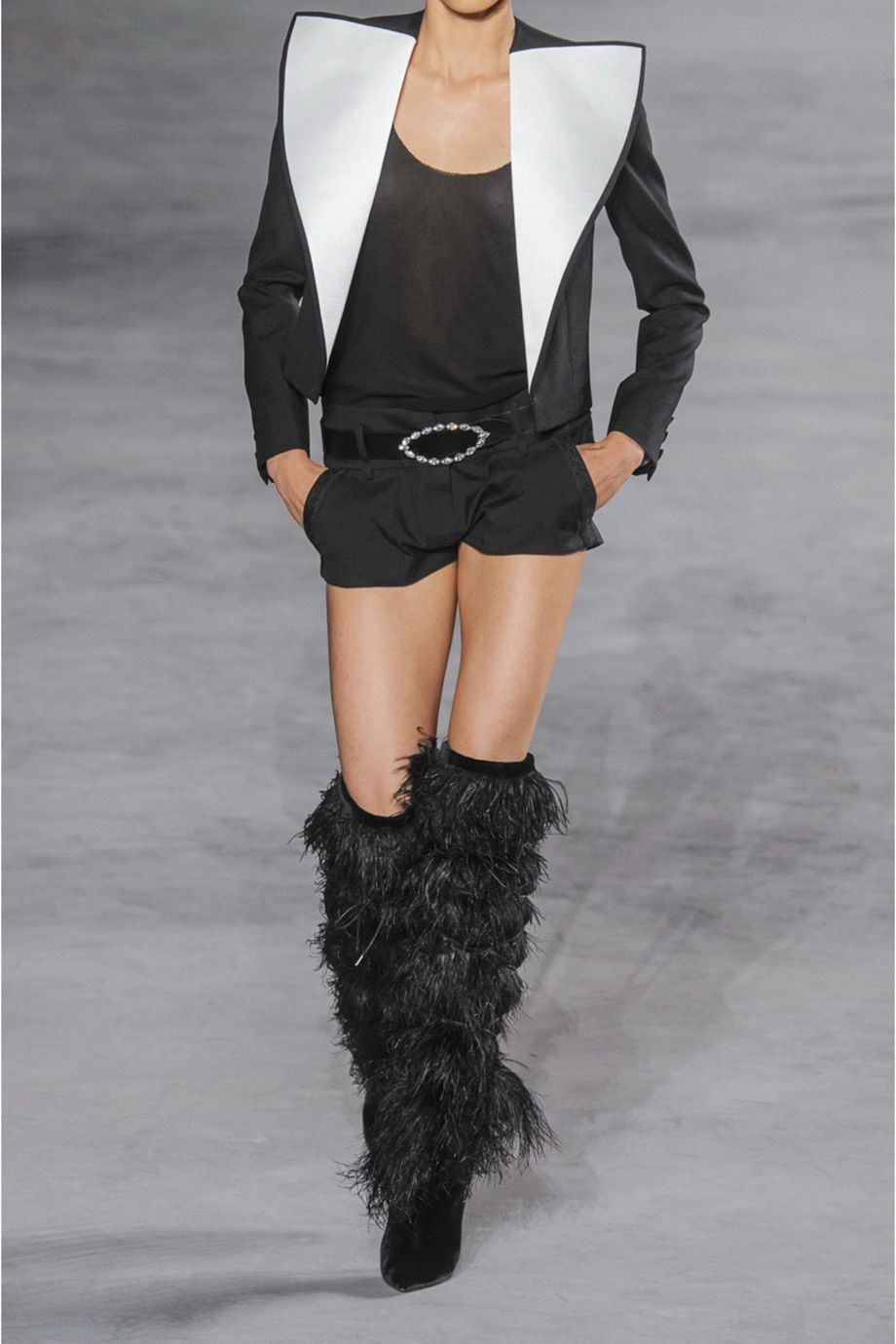 e51fc7402c4 YSL Saint Laurent Yeti Feather Over the Knee Boots | Daily style ...