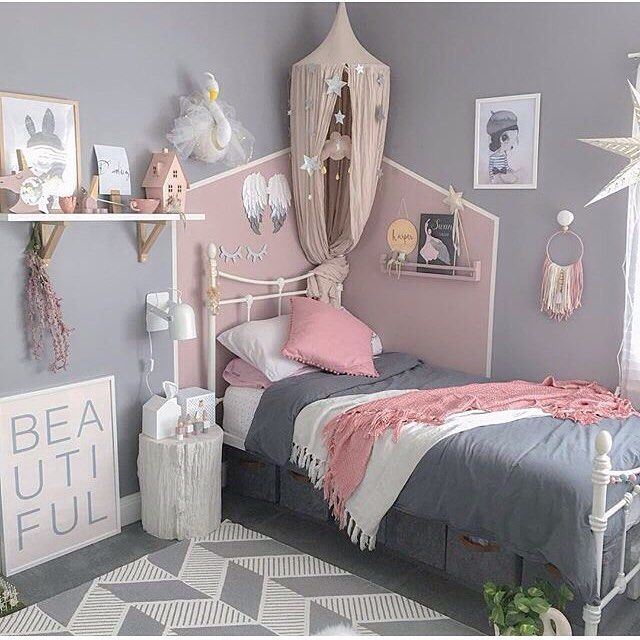 Dusty pink, grey and white is really a beautiful ...