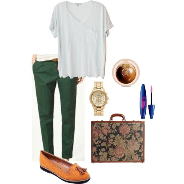 New trousers by mpociute on Polyvore featuring Clu, I Santi, Forever New, Maybelline and The Body Shop