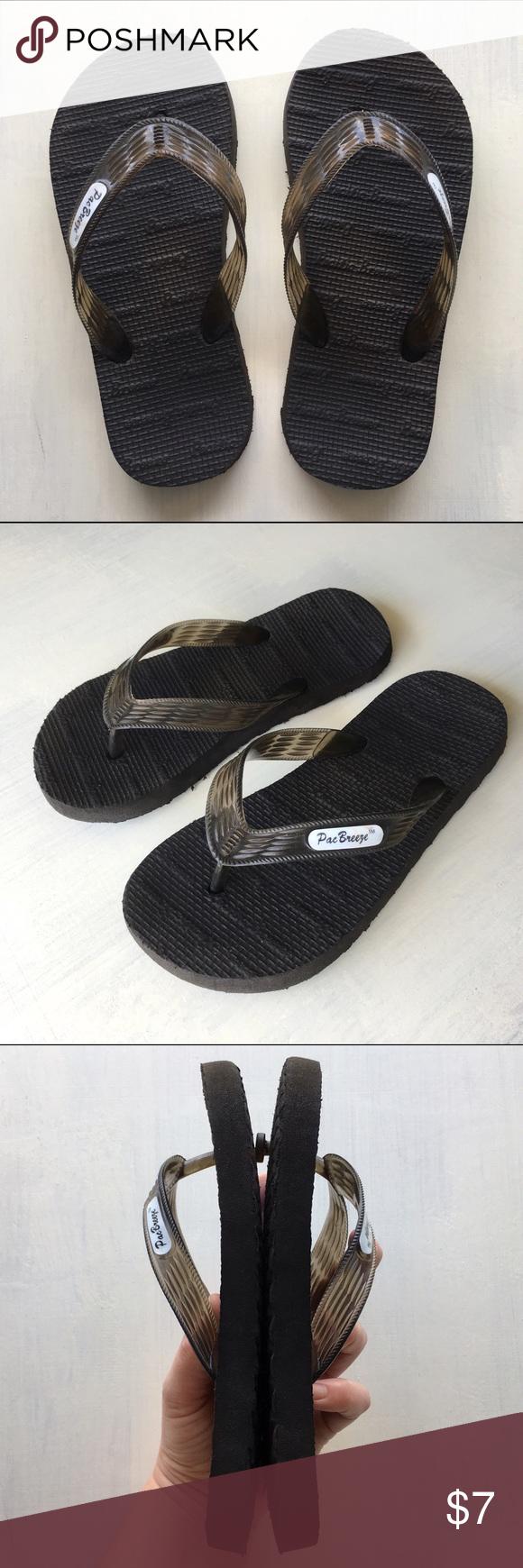 ec49f0ed1724 Hawaii Pac Breeze Women s Kid s Flip Flops Sandals Black Hawaiian Pacific  Breeze Locals Slippers!