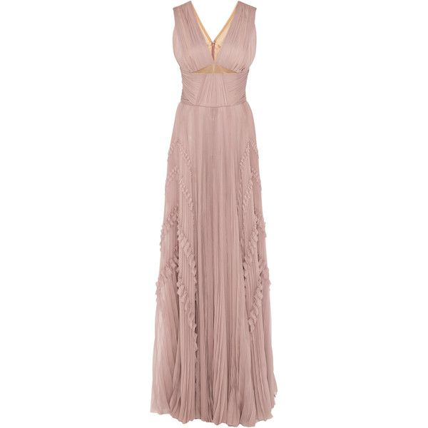 J. Mendel Hand Pleated Mousseline Gown ($5,690) ❤ liked on Polyvore ...