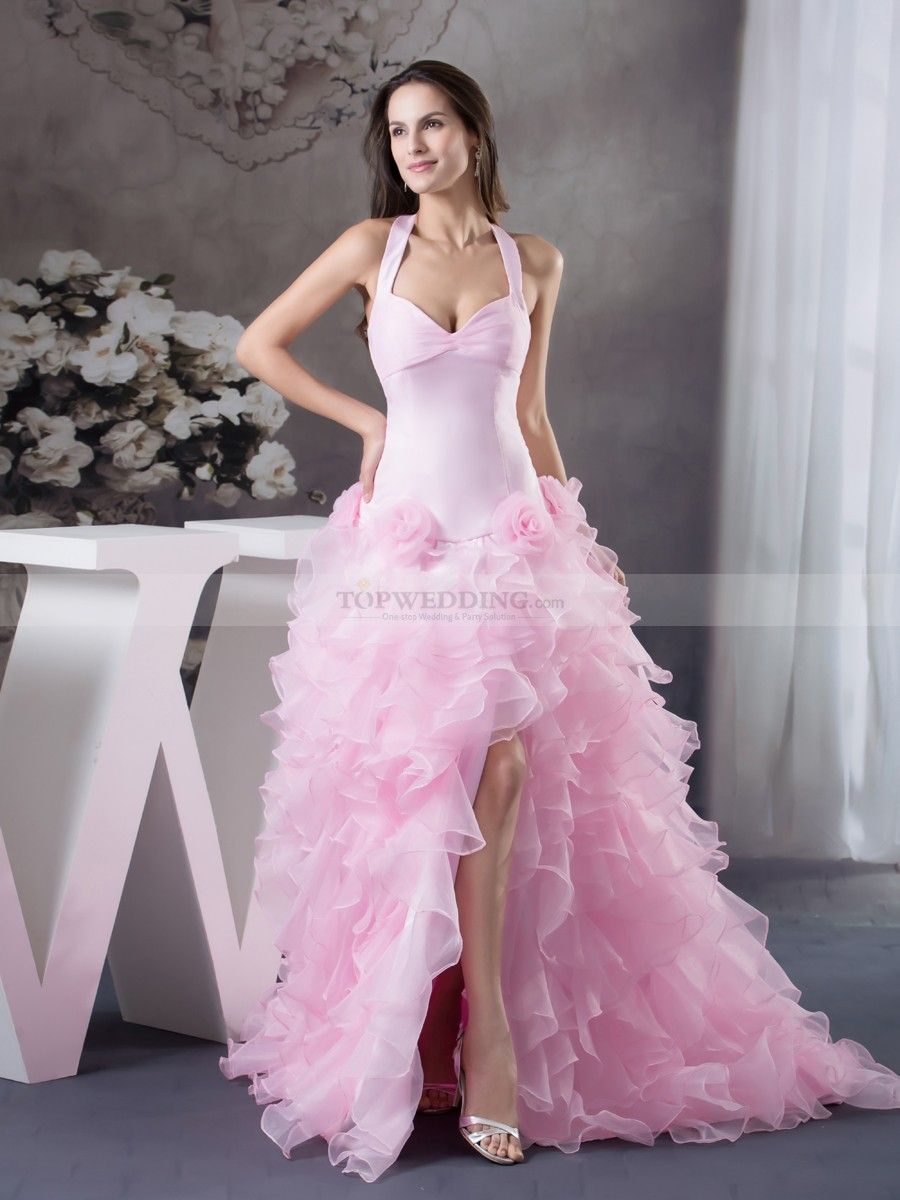 Halter Strap Sweetheart Quinceanera Dress with Ruffled Skirt