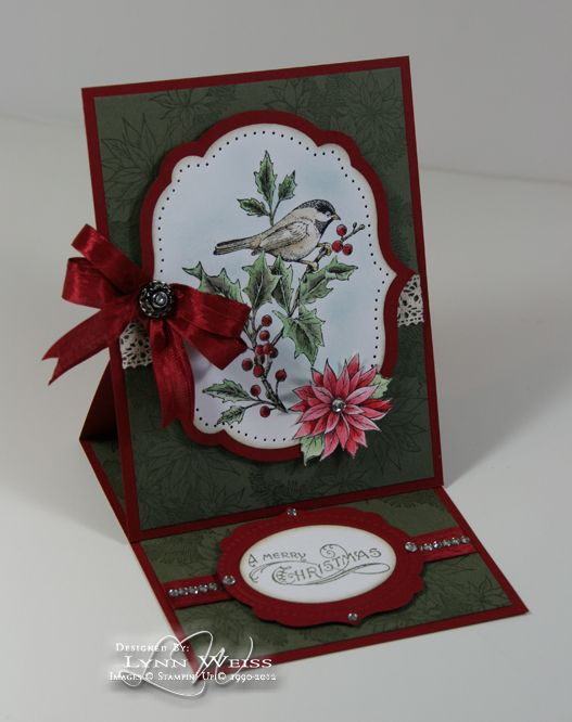 SU Bells  Boughs, layout Kerst kaarten Pinterest Easel cards