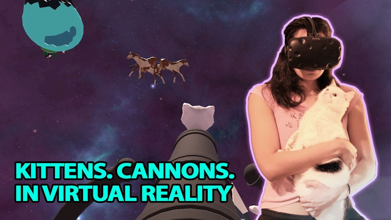 Kittens And Cannons In Virtual Reality With Casarygames Virtual Reality Games Vr Games Htc Vive
