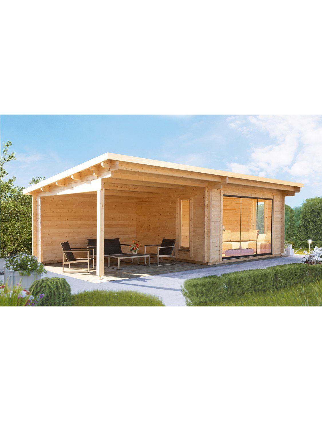 Wolff Finnhaus Holz Gartenhaus Trondheim 70 D Bxt 830x360cm Rechts 380cm Anbau Kaufen Bei Obi Gartenhaus Pultdach Trondheim