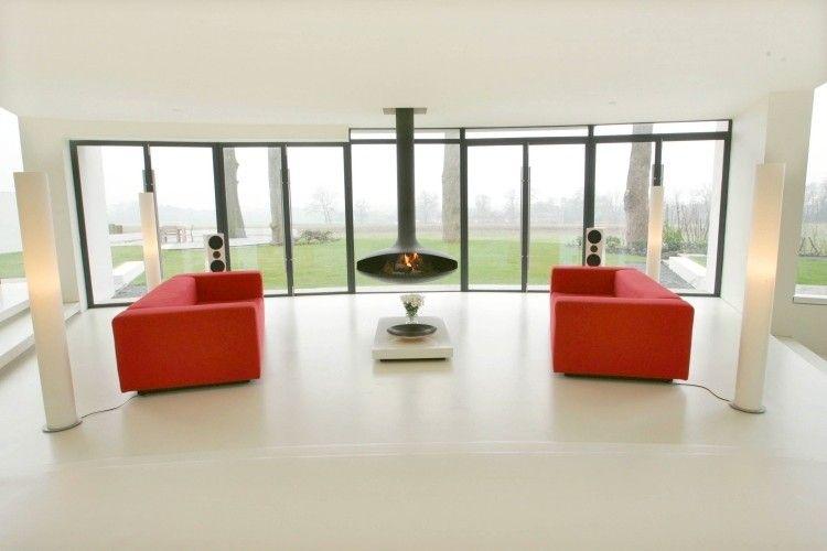 Kamin des modernen Entwurfs im Wohnzimmer