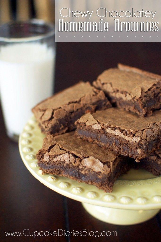 Chewy Chocolatey Homemade Brownies