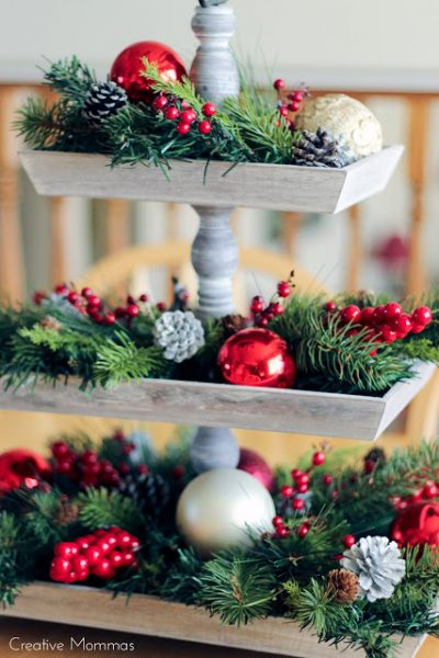 3 Tier Serving Tray Stands Beautiful Ideas To Decorate And Diy Kerst Bloemstukken Kerst Ideeen Kerst Thuis