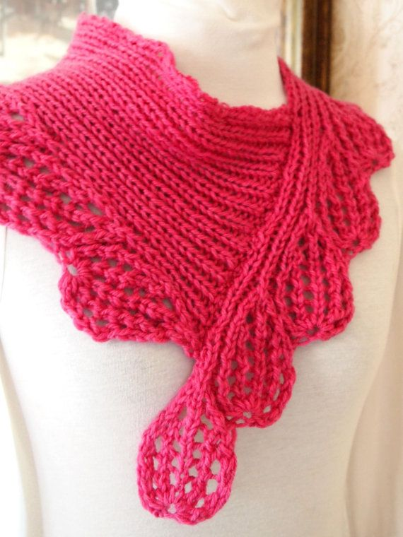 Scarf Knitting Pattern - Boysen Berry Cowl | Pinterest | Tejido, Dos ...