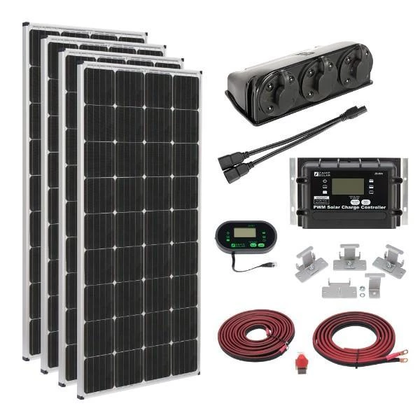 Zamp Solar 680w Deluxe Rv Roof Mounted Solar Kit Solar