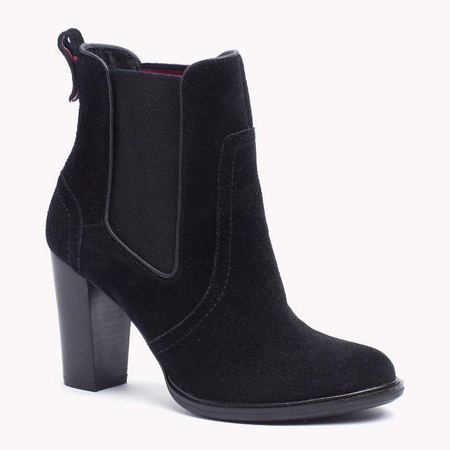 Tommy Hilfiger Suede Ankle Boot - black (Black) - Tommy Hilfiger Boots - main image