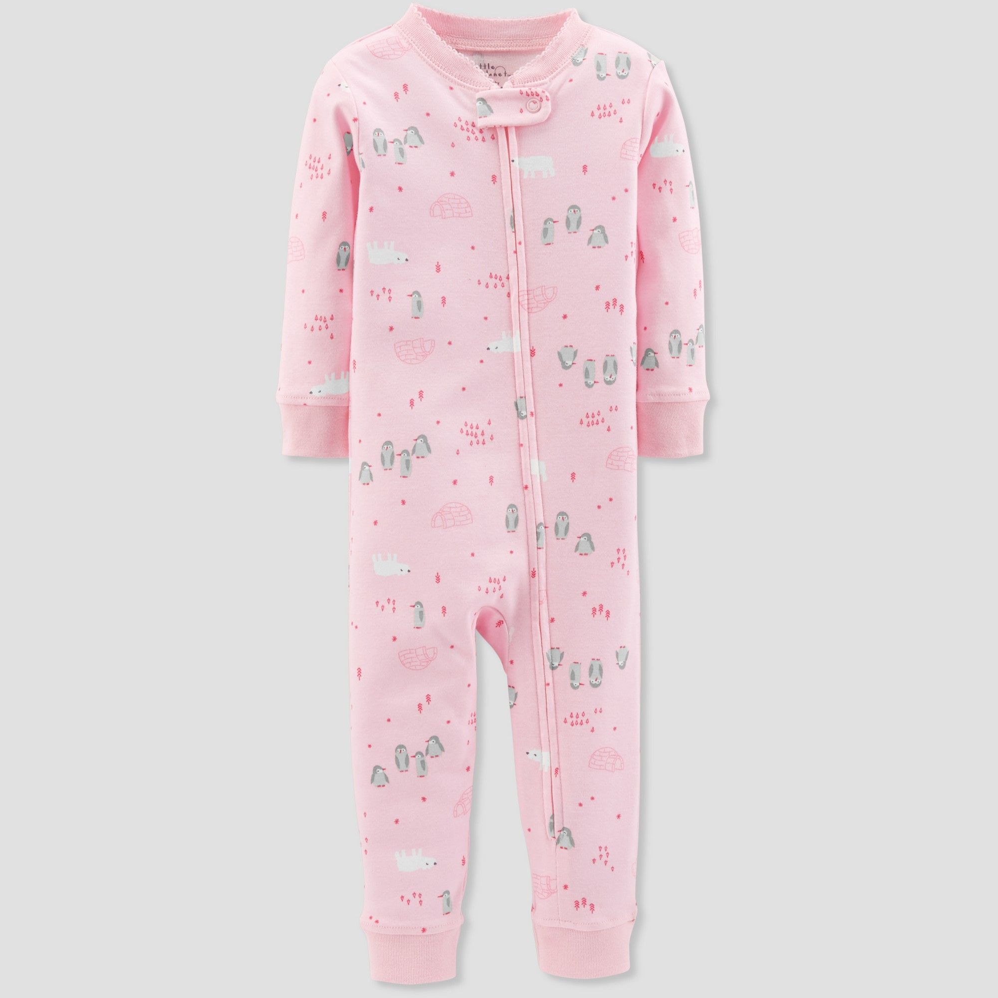 46bb1fd43a7e Baby Girls  1pc Penguin - Little Planet by Carter s Pink 12M in 2019 ...