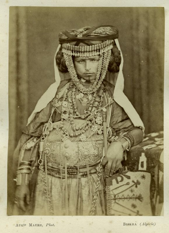Vintage Image of a Ouled Nail woman. Berber Tribe from Algeria | Photographer and exact date of this image unknown