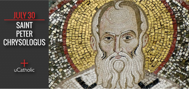 """Saint Peter Chrysologus (d.450) is the Doctor of Homilies. His words helped to defeat the attack on Christ's humanity. No doctor said so much in his homilies in fewer words. Chrysologus means """"The Golden-Worded"""""""