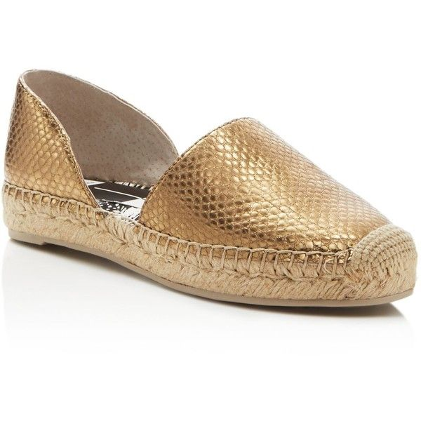 3c6c603c6 Dolce Vita Ciara Metallic Snake-Embossed d'Orsay Espadrille Flats featuring  polyvore, women's fashion, shoes, flats, vintage gold, d'orsay flats, ...